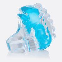 Dedo Vibrador Relieves Azul