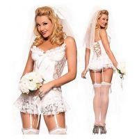 Disfraz erótico de novia picante