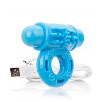 Anillo Vibrador USB Screaming Azul
