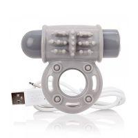 Anillo Vibrador USB Screaming Gris